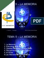 Psicología - TEMA 5 - La Memoria