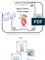 Free Music Notes Work Pages