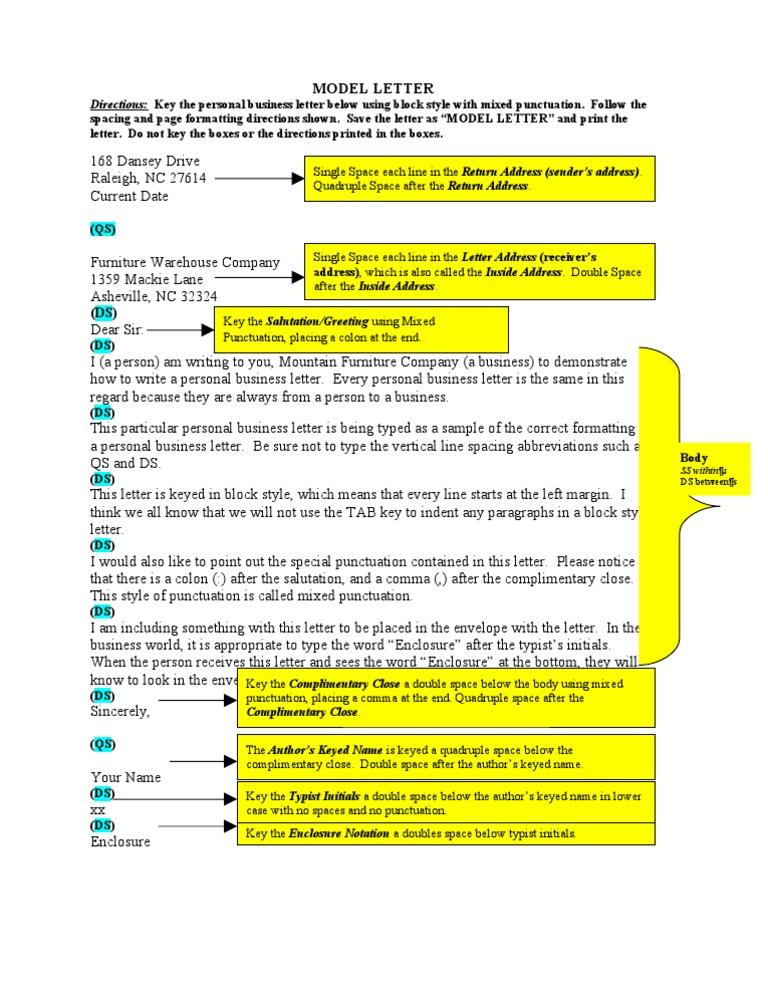 Model letter business letter spiritdancerdesigns Image collections