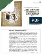 ¿Cual Es La Fe Que Nos Conduce a La Justicia de Dios (I) - P