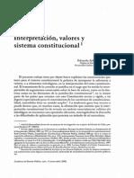 Interpretación Valores y Constitución (Aldunate)