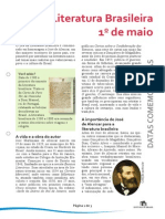 Dia Da Literatura Brasileira 1 Maio