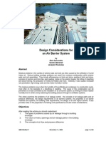 Design Considerations for an Air Barrier System