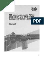 Sig 550 and 551 Assault Rifle User Manual