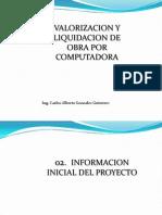 02. Informacion Inicial Proyecto