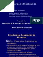 Primera Clase Congelacion de Alimentos Ing Procesos II