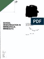 Minneapolis Desegregation Report 1977