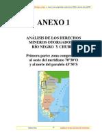 Informe Catastro Minero 2. ANÁLISIS DE LOS DERECHOS MINEROS OTORGADOS EN RÍO NEGRO Y CHUBUT