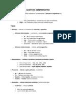 Adjetivos Determinantes