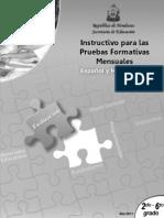 Pautas Pruebas Formativas Mensuales 2_ a 6_ Grado Esp y Matem.