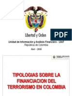 Tipologias de Financiacion Del Terrorismo