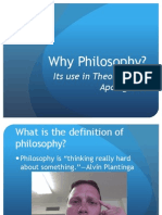 Why Philosophy