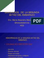 SANGRADOS   DE  LA SEGUNDA MITAD DEL EMBARAZO