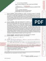Palm Springs Citation September 27, 2012