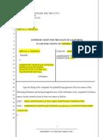 Amendment to Complaint Naming Doe 1-Gmac