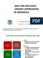 Strategies for Inclusive Green Economy Approaches in Indonesia