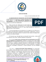 Nota de Prensa Convenio Alas Solid Arias Antiguos Scouts Lorca