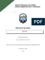 Esquema de Proyecto e Informe de Tesis