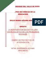 Ensayo Intervencion Educativa