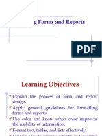 11 Designing Form and Reports