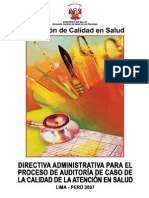 NTS_029 Auditoria Calidad Salud 2007 2009.V01