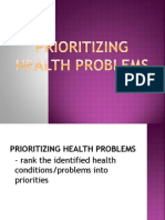 PRIORITIZING Health Problems