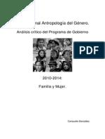 Análisis Crítico Plan de Gobierno 2010-2014. Familia y Mujer