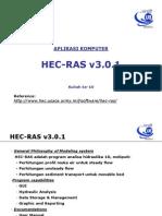 Apkom-10 Hec-ras (Profil Aliran)