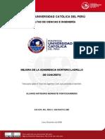 2008 Mejoara de La Adherencia Mortero - Ladrillo de Concreto