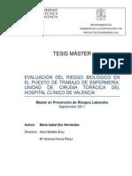 Evaluación Del Riesgo Biológico en El Hospital Clínico de Valencia