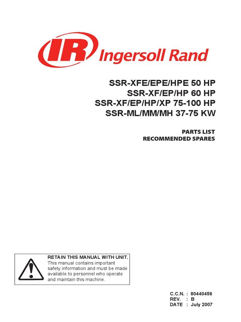 ingersollrand parts book rh scribd com Ingersoll Rand Level Sight Glass Ingersoll Rand SSR Ep 75