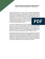 Impactos Ambientales Generado Por El Mal Manejo de Residuos Sólidos en El Distrito de Pozuzo - Provincia de Oxapampa – Región Pasco
