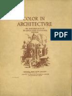 Color in Architecture, (1922)