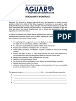 roommate contract fall 2014