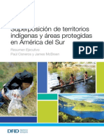 Superposición de Territorios Indígenas y Áreas Protegidas en América Del Sur