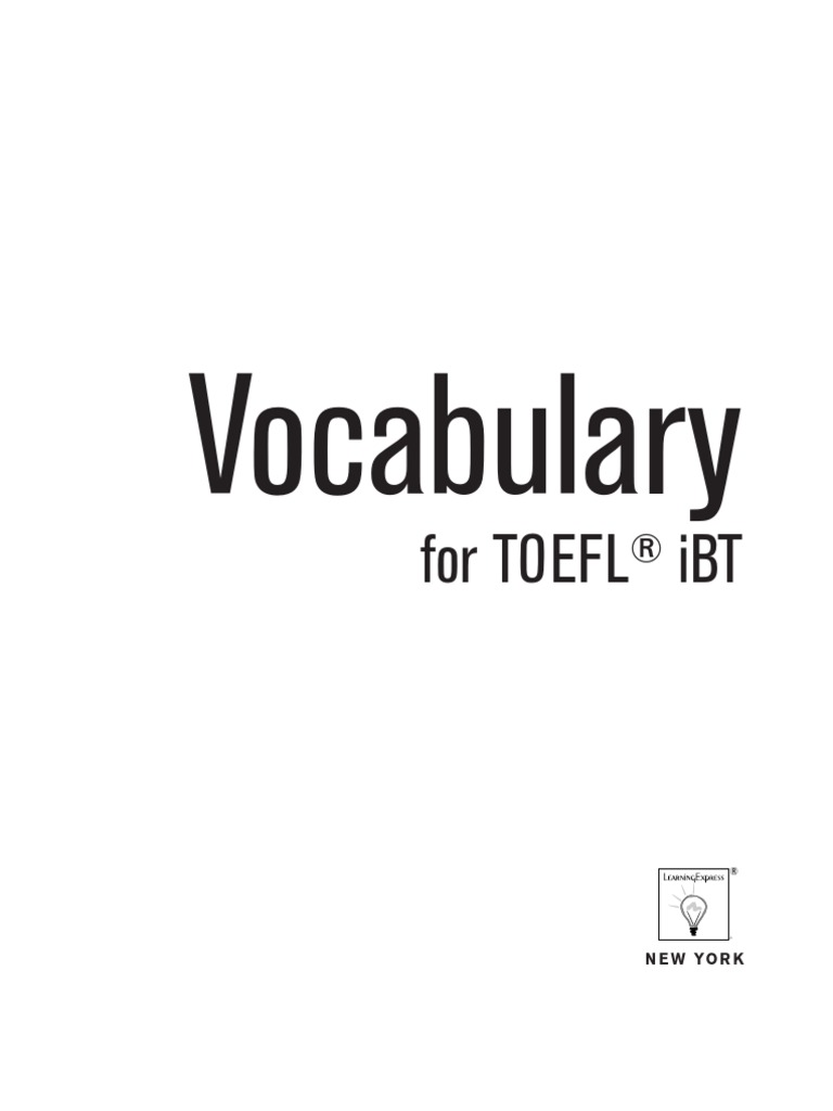vocabulary for toefl ibt test of english as a foreign