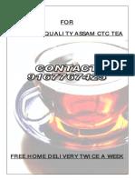 Tea Pamphlet