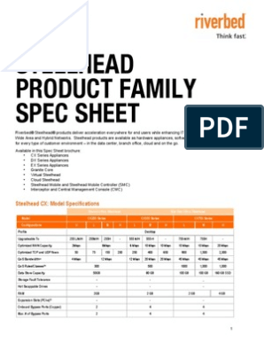 Steelhead Family Spec Sheet | Cloud Computing | Computer
