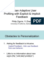 Bayesian Adaptive User Profiling with Explicit & Implicit Feedback (slides)