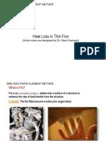 Heat Loss in Fins