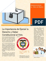 ABSTENCIONISMO Vs VOTO EN BLANCO