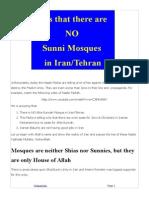 No Sunni Mosques Iran