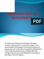 Desinfeccion en Matadero.
