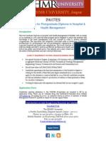 Postgraduate Diploma in Hospital & Health Management