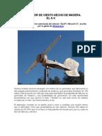 Generador Eolico De Madera (~300W)
