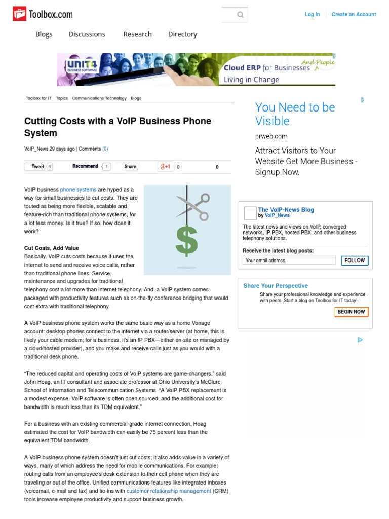 Cutting Costs With a VoIP Business Phone System | Voice Over