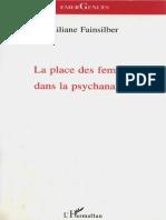 Liliane Fainsilber - La Place Des Femmes Dans La Psychanalyse