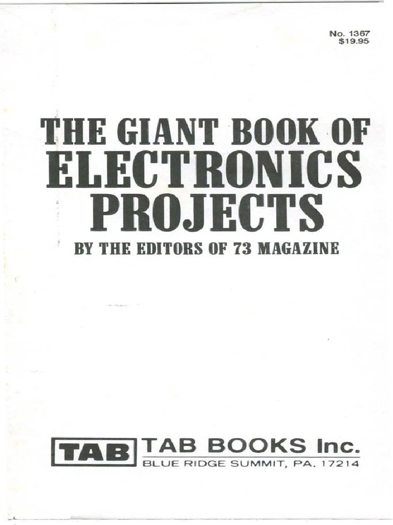 The Giant Book Of Electronics Projects Amplifier Rectifier Rv Wiring Diagram Likewise Long Range Fm Transmitter Circuit