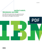 Game, set and perfect match. Wimbledon and IBM