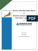 Summer Internship Report-Liquid Fund Analysis